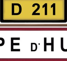 Alpe d'Huez Sign Tour de France Cycling Shirt Sticker
