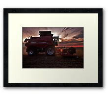Sunset Harvesting Framed Print