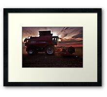 Sunset Harvesting Framed Print