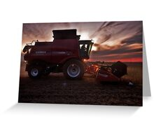 Sunset Harvesting Greeting Card