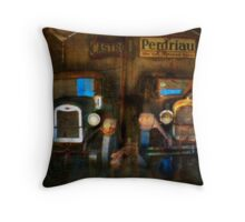 Old Companions - Vintage Cars at Old Talem Town Throw Pillow