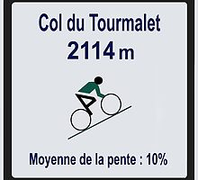 Col du Tourmalet Sign Tour de France Cycling by movieshirtguy