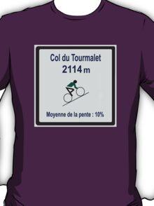 Col du Tourmalet Sign Tour de France Cycling T-Shirt