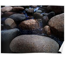 Wet Smooth Rocks Poster