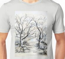 Trees in winter  Unisex T-Shirt
