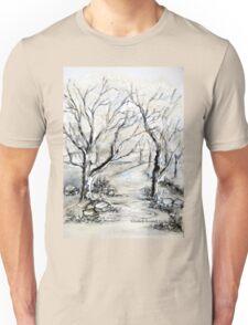Trees in winter  Unisex T-Shirt