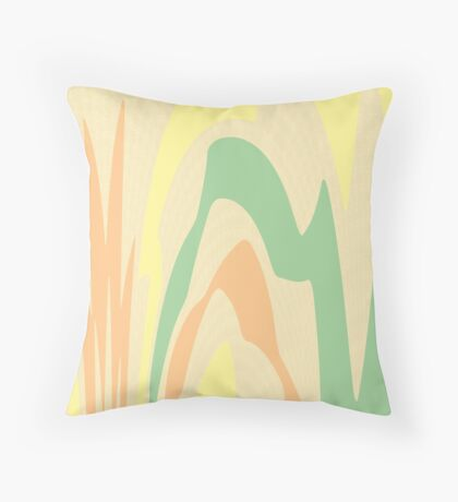 Spring Morning Abstract Throw Pillow