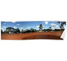 Outback roadhouse panorama Poster