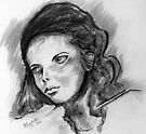 A young girl's face by Elizabeth Kendall