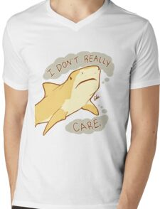 The Shark Who Doesn't Care Mens V-Neck T-Shirt