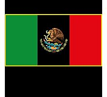 Afro Mexican Flag Photographic Print