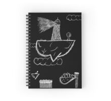 Lighthouse Pen Scratch Invert Spiral Notebook