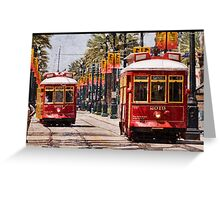 Return of the Red Streetcars Greeting Card