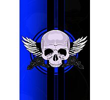 Wing Skull - BLUE Photographic Print