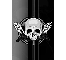 Wing Skull - BLACK & WHITE Photographic Print