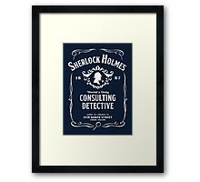 World's Only Consulting Detective Framed Print