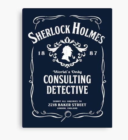 World's Only Consulting Detective Canvas Print