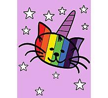 Rainbow Unicorn Cat Unikitty T Shirt Photographic Print