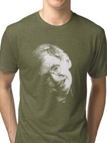 Stephen Hawking Pixel Art Tri-blend T-Shirt