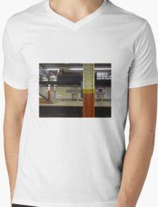 Brooklyn Bridge Subway NYC Mens V-Neck T-Shirt