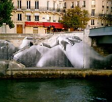 River Bank - Paris, France by Britland Tracy
