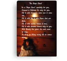 """The Hope Chest"" Canvas Print"