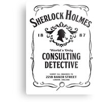 World's Only Consulting Detective (BW) Metal Print