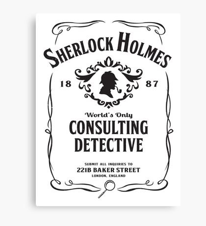 World's Only Consulting Detective (BW) Canvas Print