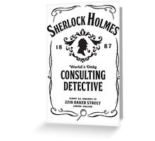 World's Only Consulting Detective (BW) Greeting Card