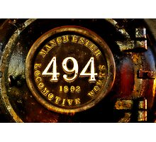 Steam Locomotive #494 Photographic Print