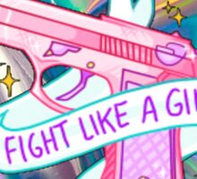 "Holographic ""fight like a girl"" Sticker"