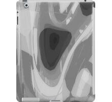 Grey gray, black abstract, modern art design iPad Case/Skin