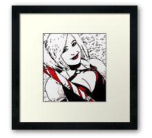 Hot Girl in Red Corset 5 Framed Print