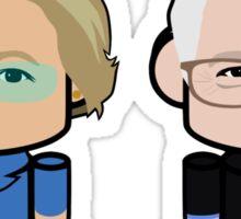 Warren & Sanders: Greater Together Politico'bot Toy Robots  Sticker