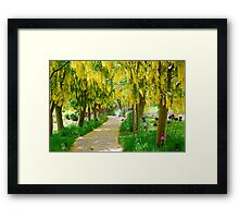 Follow the Yellow Floral Road... Framed Print