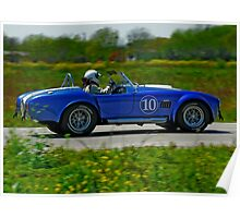 Shelby Cobra Racing Poster