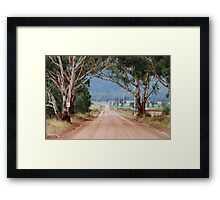 The Road to Glen Davis NSW Australia Framed Print