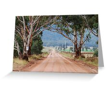 The Road to Glen Davis NSW Australia Greeting Card