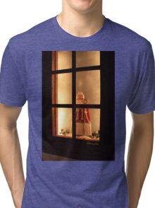 Little Antique Santa in the Window Tri-blend T-Shirt