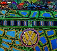 Hippie VW van by caafephoto