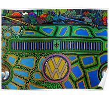 Hippie VW van Poster