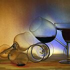 Still Life Five - Tumbling glasses by Robyn Selem