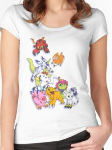 Digimon Adventure Partners Women's Fitted Scoop T-Shirt