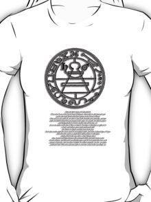 THE SECRET SEAL OF SOLOMON. with text description T-Shirt