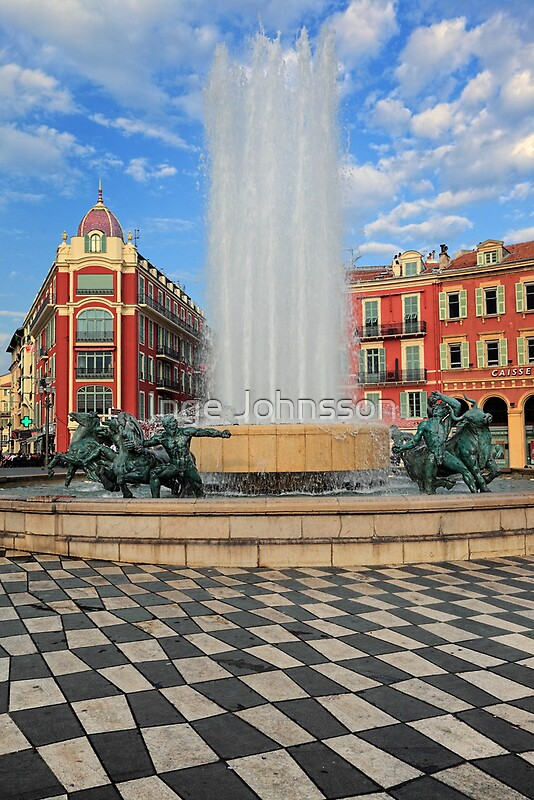 Place massena fountain by inge johnsson redbubble - Place massena nice ...