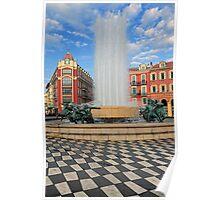 Place Massena Fountain Poster