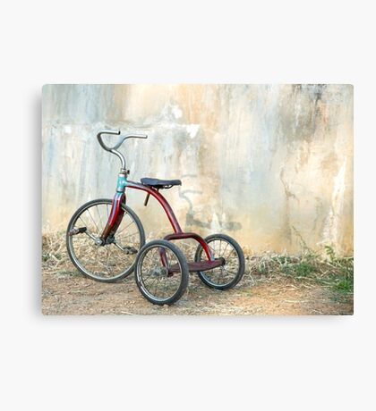 Old Child's Tricycle... Canvas Print