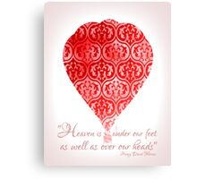 Red Hot Air Balloon Inspirational Literary Henry David Thoreau Quote Typography Art Print Canvas Print