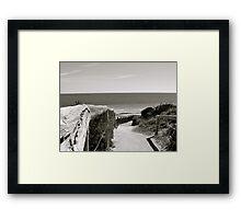 Dune Descent Framed Print