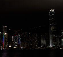 Hong Kong at night by C1oud